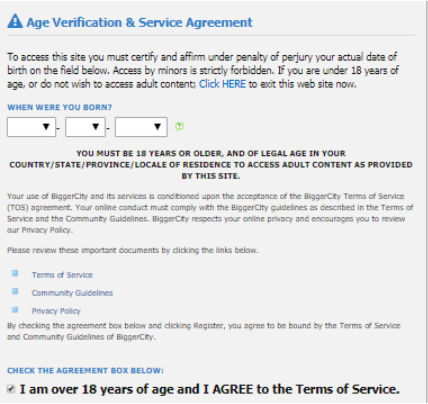 age verify registration